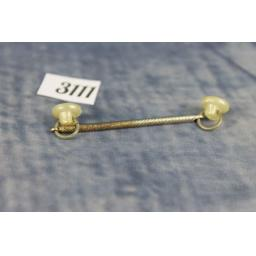 Unusual Vintage Collar Bar Pearly Lucite buttons