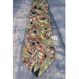 "Secours All Silk Soft Feel Autumn Leaves Pattern 4"" Wide Tie"