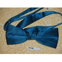 Blue Satin Pre-tied Adjustable Bow Tie