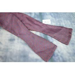 Italian Self Tie Straight End Thistle Bow Tie Navy with Red Polka Dot