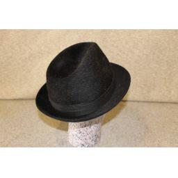 "Vintage Dark Brown Rockel ""Hair"" Fedora 59cm"