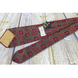 Superb Vintage 1950s 1960s Sutterby & Gay Burgundy & Green Skinny Tie