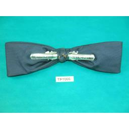 Vintage Navy Shooting Star Design Square End Clip On Bow Tie