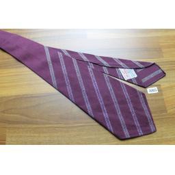 Vintage 1940s/1950s Wembley Burgundy Stripe Non Crush Tie Lindyhop/Swing/Zoot Suit/Rat Pack