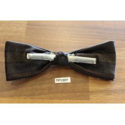 Vintage Clip On Bow Tie Striped Pattern