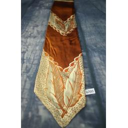 Superb Vintage 1940s 1950s Copper Leaf Pattern Tie Lindyhop/Swing/Zoot Suit/Rat Pack