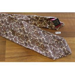 """Vintage 1960s John Comfort All Silk Paisley Browns 3"""" Wide Skinny Tie"""