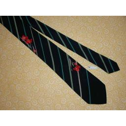 "Vintage Leonard Paris 3"" Stripe and Floral Tie"