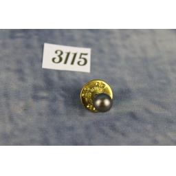 Vintage Gold Metal Faux Black Pearl Tie Pin