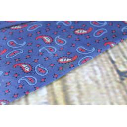 "Superb Vintage 1940s/1950s All Silk Superba Hub Clothiers L.A. Blue Burgundy Tie 3.5"" Wide"