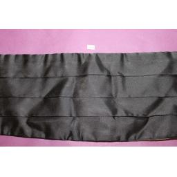 Black Satin Adjustable Pleated Cummerbund