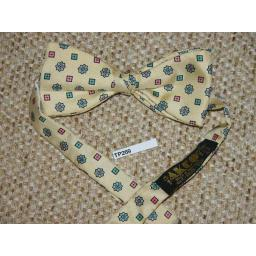 Vintage Akco Patterned Pre-Tied Bow Tie