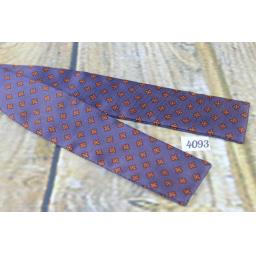 Vintage Self Tie Straight End Paddle Bow Tie Navy & Burgundy Pattern