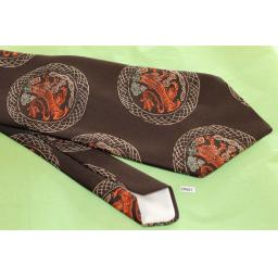 "Vintage Retro Victoria & Albert Museum Collection By Tootal 1970's Wide Kipper Tie Brown Copper 4.75"" Wide"