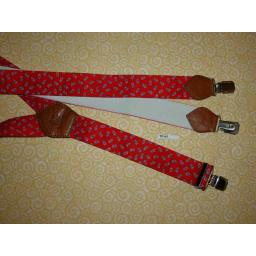 Vintage Retro Wide Clip On Elasticated Paisley Braces 80s/Wall Street