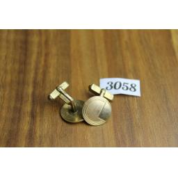 Vintage Swank Gold Metal Art Deco Style Cuff Links