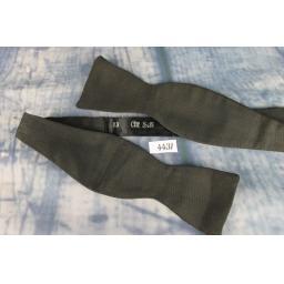Vintage 100% Silk Self Tie Straight End Thistle Bow Tie Classic Black