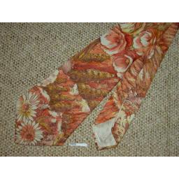 "Vintage 1940s/50s Floral Harvest Tie 4.5"" Wide Lindyhop/Swing/Zoot Suit"
