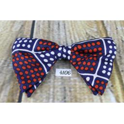 Vintage 1970s , Red, Blue, White Spotty Pre-tied Adjustable Bow Tie