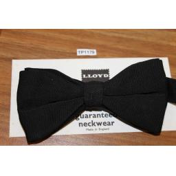 Vintage Lloyd Classic Black Pre-Tied Bow Tie One Size Fits All