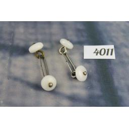 Vintage Lucite Button Style collar bars