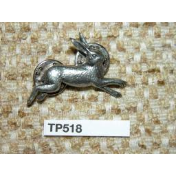 Vintage Pop Silver Metal Hare Rabbit Tie Pin Lapel Pin Badge Brooch