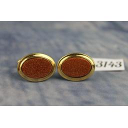 Vintage La Mode 1/20 10k Gold Filled Gold Stone Cufflinks