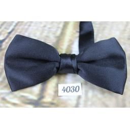 Vintage Classic Black Satin Type Pre-Tied Bow Tie One Size Fits All