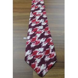 "Superb Vintage All Silk 1940s/1950s Gimbel Bros Ivory & Burgundy Tie 4.5"" Wide Lindyhop/Swing/Zoot Suit/Rat Pack"