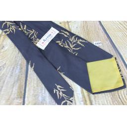 "Superb Vintage 1960s 1970s Arrow Black Bamboo Design 4.25"" Wide Tie"
