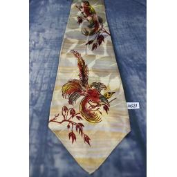 Superb Vintage 1940s 1950s Brent Original Hand Painted Birds Tie Lindyhop/Swing/Zoot Suit/Rat Pack