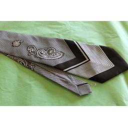 "Vintage Retro Tootal 1970's Wide Kipper Tie Brown Cream 4.75"" Wide!"