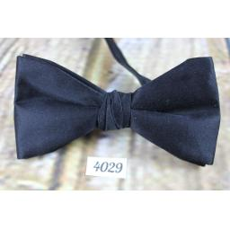Classic Black Satin Marks & Spencer Pre-Tied Bow Tie Adjustable to Fit All Collar Sizes