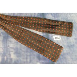 Vintage Brown Droplet Patterned Self Tie Square End Paddle Bow Tie