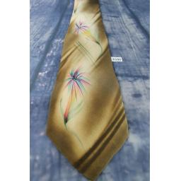 Vintage 1940s/1950s Paul's Men's Wear All Silk Hand Painted Palm Trees Tie