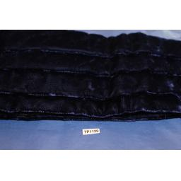Hornes London Royal Blue Crushed Velvet Adjustable Pleated Cummerbund Large