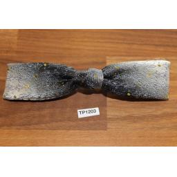 Vintage Shades of Grey Square End Clip On Bow Tie