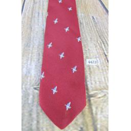 Superb Vintage 1960s Smith & Welton Burgundy Duck Hunting Shooting Design Tie