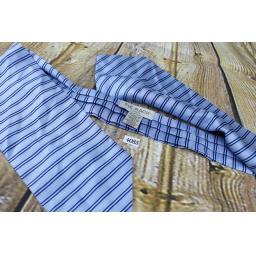 Vintage Tie Rack Blue Navy Gold Stripe Cravat Retro Mod