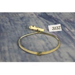 Vintage Swank Gold Metal Shirt Clip & Adjustable Width Tie Ring