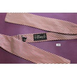 Vintage 100% Silk B Altman & Co Self Tie Square End Bow Tie