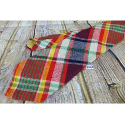 "4.5"" Wide Bright Colour Tartan Coarse Woven 100% Polyester Tie"