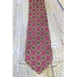 Vintage Resillio All Silk Foullard Hand Screened The University Shop 1960s Skinny Mod Era Paisley Tie Burgundy