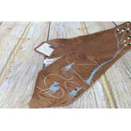Superb Vintage 1940s/1950s Imperial Croyoon All Silk Deer & Woodland Blue & Brown Jacquard Tie