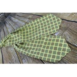 Vintage Duggie Lemon/Green/Red Patterned Cravat Retro Mod