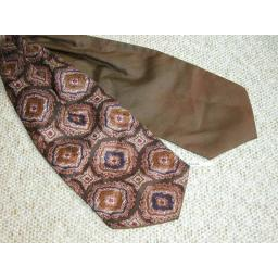 Vintage Brown Patterned Cravat Retro Mod