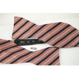 Vintage Striped Self Tie Straight End Thistle Bow Tie