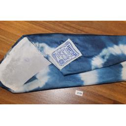 Superb Vintage Hipsh 1950s Blue Tie Dye Pattern Nylon Tie With Original Tags