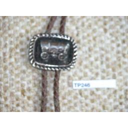 Western/Cowboy Bolo Tie Vintage Western Wagon Toggle & Metal Aiglets