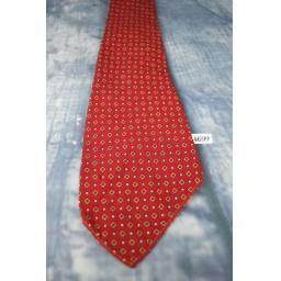 """Superb Vintage Botany Virgin Wool Asymmetric 1940s/1950s Tie 3.5"""" Wide Burgundy"""
